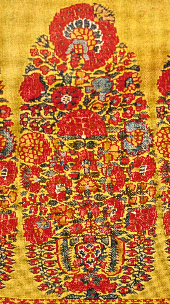 Buta on Shoulder Mantle Afghan Period Mid to late 18th Century 574x1024 Kashmir Paisley Shawl and its Enduring Contribution to the Paisley Motif