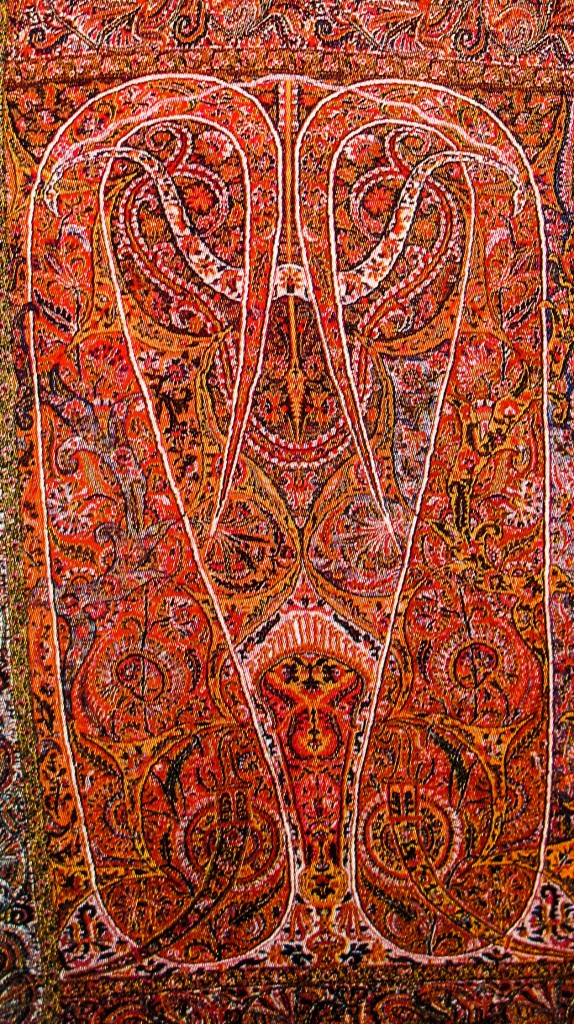 Complex and Sophisticated Buta Paisley on Long Kashmir Paisley Shawl. Sikh Period. Kashmir. Pashmina. ca. Mid 19th Century1 574x1024 Kashmir Paisley Shawl and its Enduring Contribution to the Paisley Motif