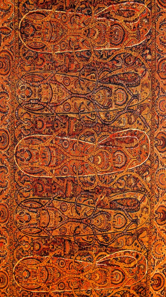 Complex and Sophisticated Buta Paisley on Long Kashmir Paisley Shawl. Sikh Period. Kashmir. Pashmina. ca. Mid 19th Century2 575x1024 Kashmir Paisley Shawl and its Enduring Contribution to the Paisley Motif