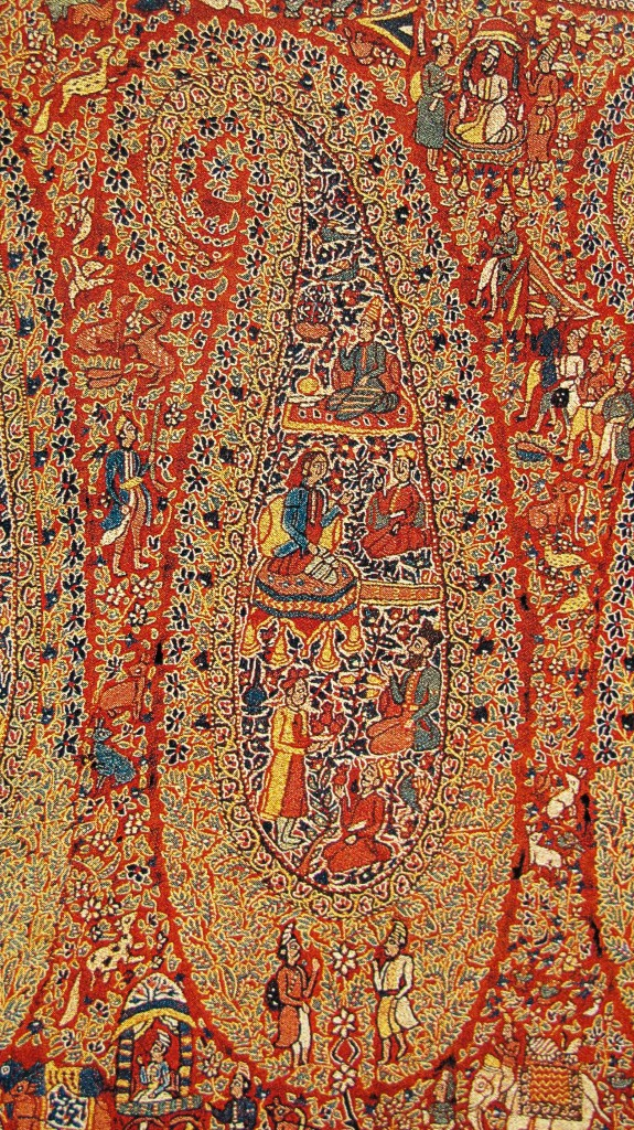 Kashmir Paisley Pashmina Jamawar Shawl. Sikh Dogra Period. Kashmir. 19th Century. Suzani on Kani Woven Shawl 575x1024 Kashmir Paisley Shawl and its Enduring Contribution to the Paisley Motif