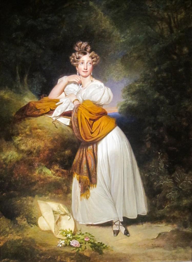 TKC Franz Xaver Winterhalter 1805 73 Portrait of Sophie of Sweden 1801 1865 Grand Duchess of Baden 1831 749x1024 Kashmir Paisley Shawls: Defining Love for Over 300 Years
