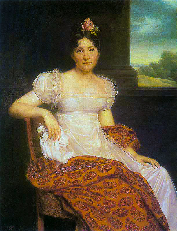 TKC Portrait of Joséphina Fridrix wearing a Kashmir Paisley Shawl 1813 Kashmir Paisley Shawls: Defining Love for Over 300 Years
