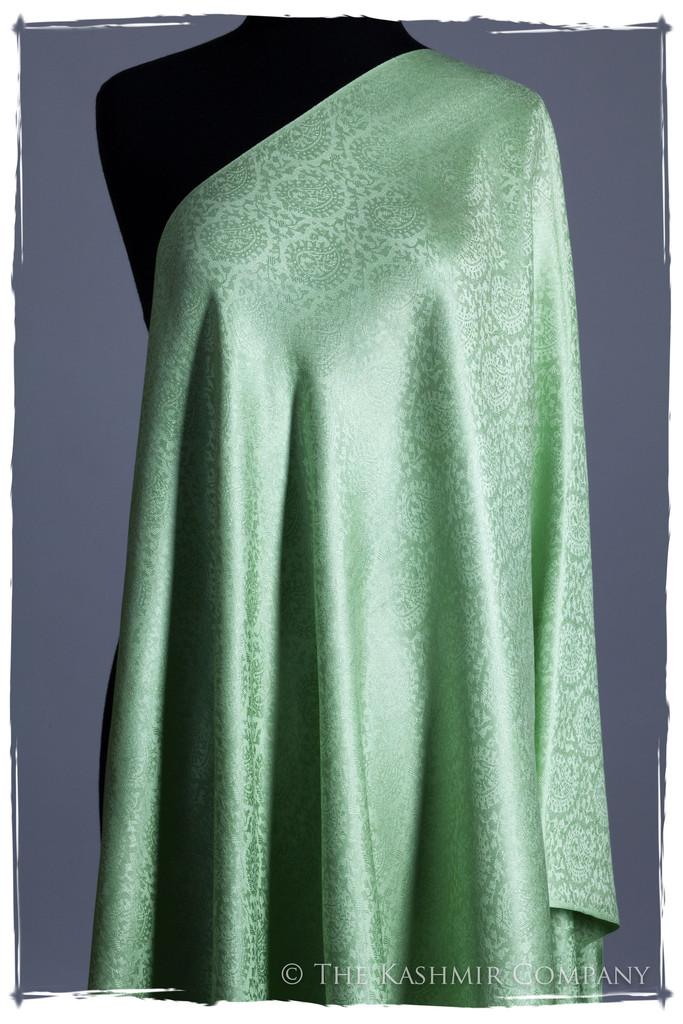 Crème de Menthe Paisley Silk Scarf Shawl Seasons Kashmir Company Ladurée Silk Scarf Collection: Inspired by Laduree Paris