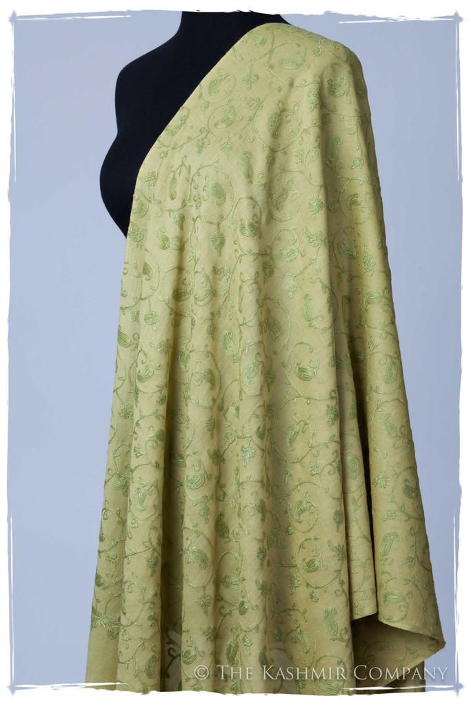 Sage Secret Garden Shawl Seasons Kashmir Company The Secret Garden Collection: Add a Dash of Magic to Your Wardrobe