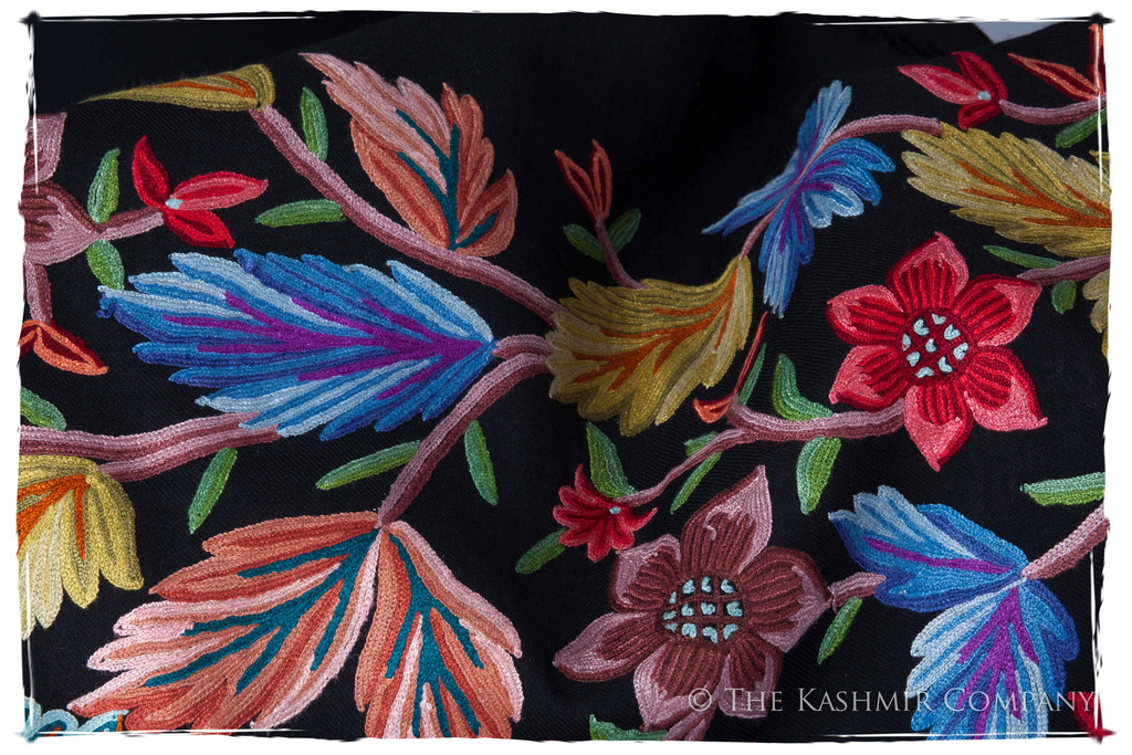 Garden Glade Renoirs Dream Shawl Detail Seasons Kashmir Company Wrap the Fine Art of Renoir around Your Shoulder with the Renoir's Dream Shawl Collection