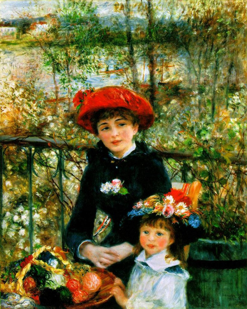 On the Terrace Pierre Auguste Renoir(1841 1919  819x1024 Wrap the Fine Art of Renoir around Your Shoulder with the Renoir's Dream Shawl Collection