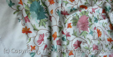 Flowering Vines Garden Kashmir Shawl