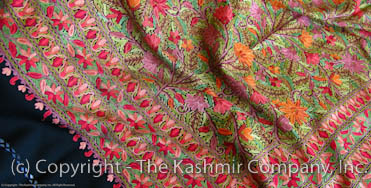 Gardens of Kashmir Antiquaires Shawl
