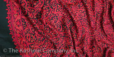 Field of Red Paisley Kashmir Shawl