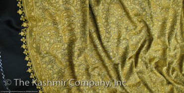 Field of Aspen Gold Paisley Kashmir Shawl