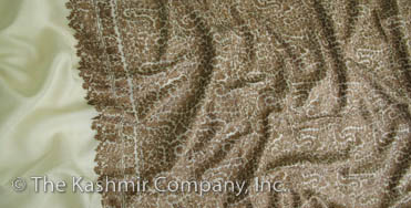 Kashmir Gold Garden Embroidery Shawl