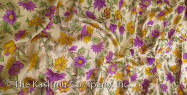 Autumn Purple Kashmir Gold Spring Silk Scarf