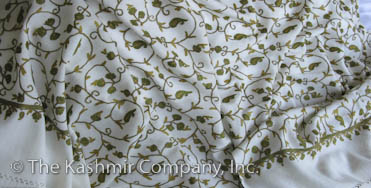 Field of Gold Boteh Paisley Ivory Cashmere Shawl