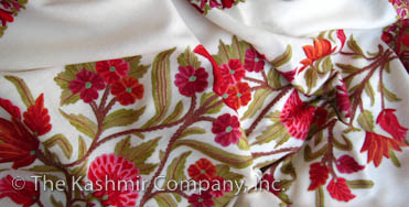 Ivory Shawls from The Kashmir Company