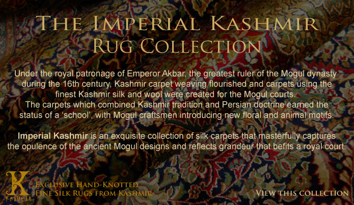 The Imperial Kashmir Rug Collection