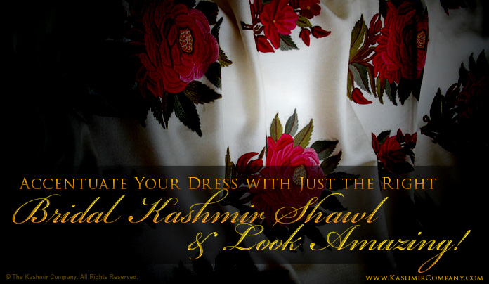 Bridal Wedding Shawls by The Kashmir Company
