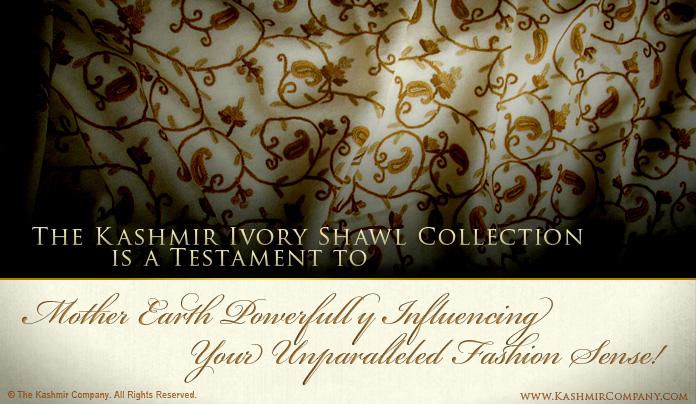 Ivory Shawls by The Kashmir Company
